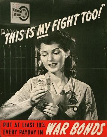 Poster: This is MY fight too!  Put at least 10% every payday in War Bonds