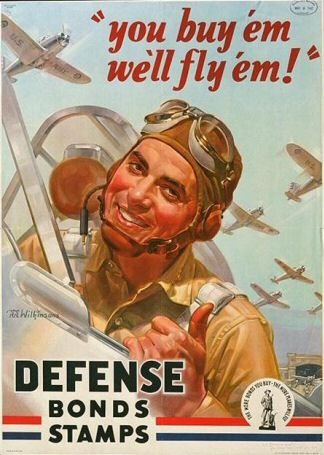 Poster: You buy 'em we'll fly 'em.  Defense Bonds Stamps